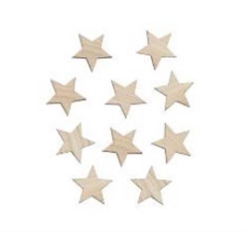 Bilde av Veggdekor stjerner 4 cm - Maseliving