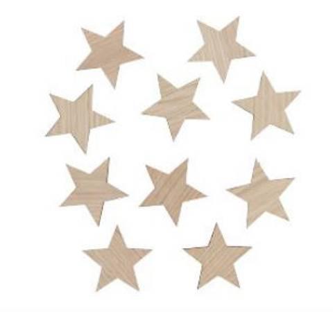 Bilde av Veggdekor stjerner 8 cm - Maseliving