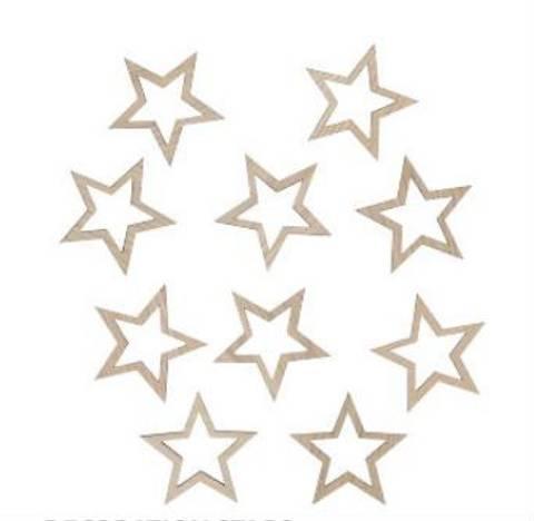 Bilde av Veggdekor stjerner 9 cm - Maseliving