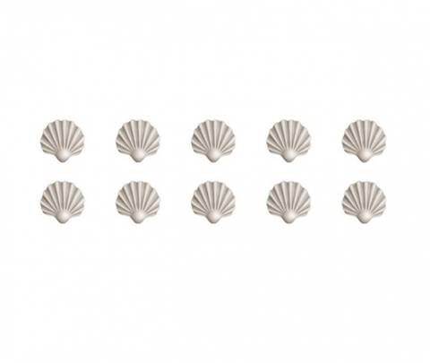 Bilde av Wallsticker - Shells in beige - Stickstay