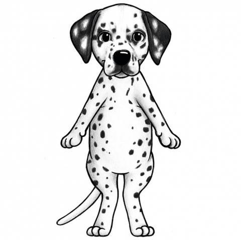 Bilde av Wallsticker - Freckles the Dalmatian - Stickstay