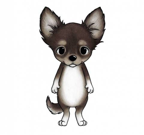 Bilde av Wallsticker - Chica the chihuahua - Stickstay
