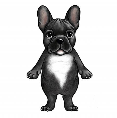 Bilde av Wallsticker - Boss the French bulldog - Stickstay