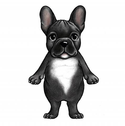 Bilde av Wallsticker - Boss the French bulldog - Stickstay