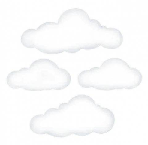 Bilde av Wallsticker - Clouds White Big - Stickstay