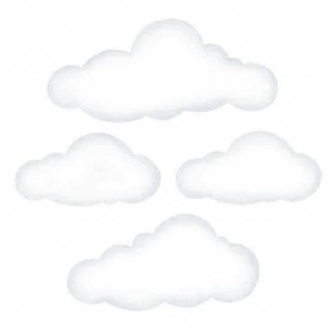 Bilde av Wallsticker - Clouds White Big - Stickstay