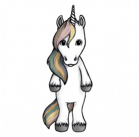 Bilde av Wallsticker - Pride the unicorn (38cm) -