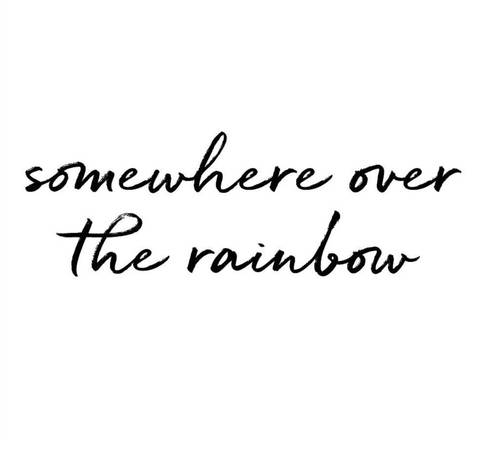Bilde av Wallsticker - Somewhere over the rainbow -