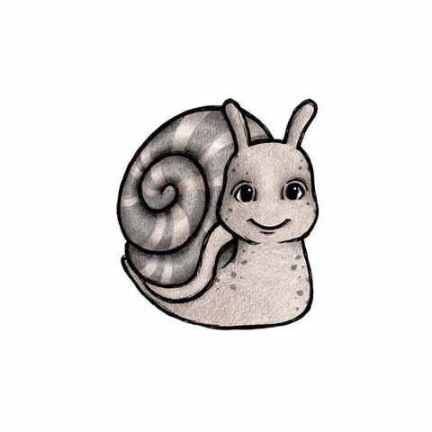 Bilde av Wallsticker - Slow the snail - Stickstay