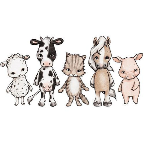 Bilde av Wallsticker - Farmhouse Friends - Stickstay