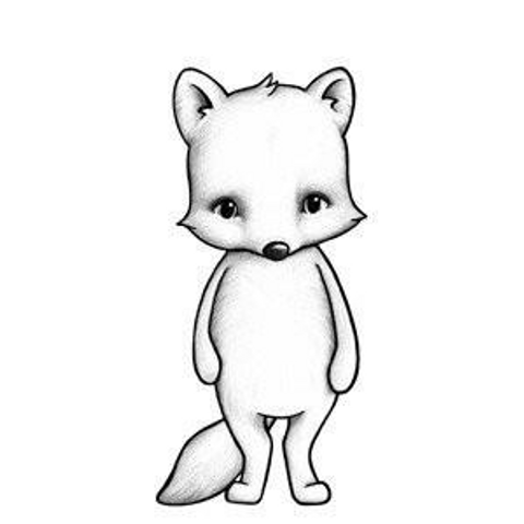 Bilde av Wallsticker - Freja the Arctic fox - Stickstay