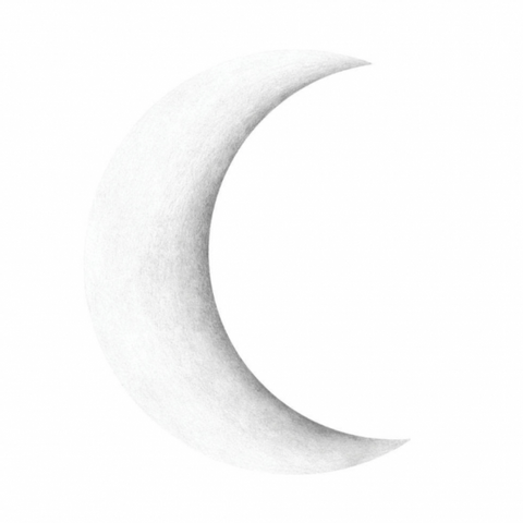 Bilde av Wallsticker - Half Moon White - Stickstay