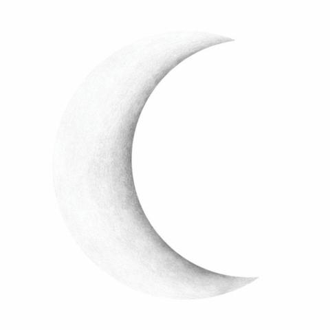 Bilde av Wallsticker - Half Moon White - Stickstay