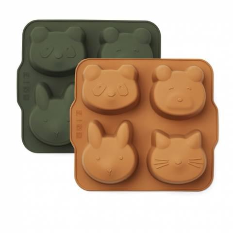 Bilde av Mariam Kakeformer 2 pack Green/Mustard - Liewood