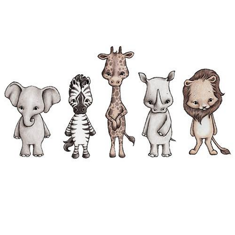 Bilde av Wallsticker - Savannah Friends - Stickstay