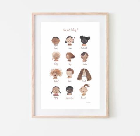 Bilde av Poster Feelings (50x70 cm) - Mushie