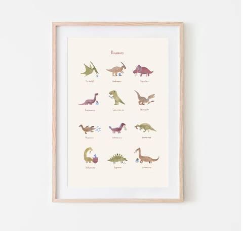 Bilde av Poster Dino (50x70 cm) - Mushie