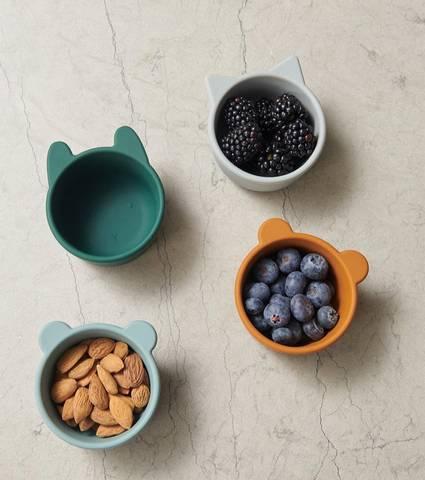 Bilde av Malene Silikon Skål 4 Pack Green - Liewood