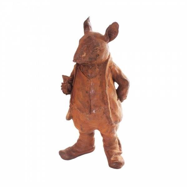 Mr Ratty. Figurer i støpejern, rust.