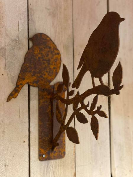Bilde av Veggholder i rust m fugler