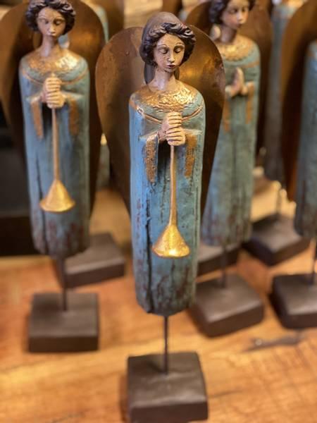 Vintage engler med trompet 40cm