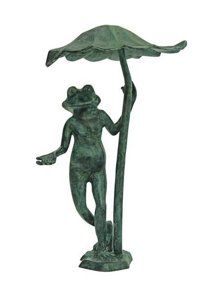 Bilde av Frosk i bronse under et