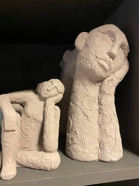 Skulpturer i leire, 17 cm