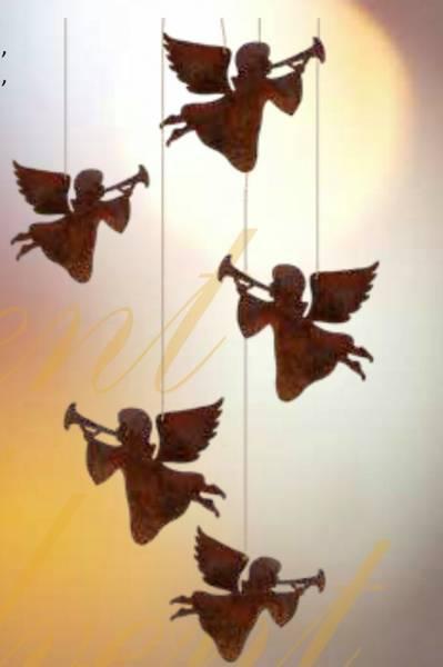 Bilde av Søte engler i rust 15 cm