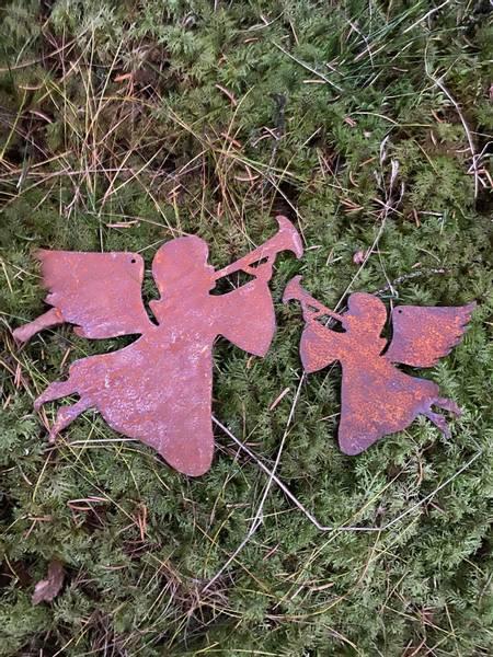 Søte engler i rust 15 cm