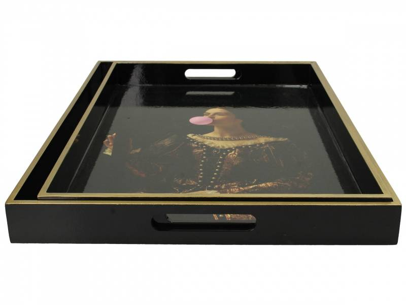 Bilde av S/2 SERVING TRAY MASTERPIECE COLL.