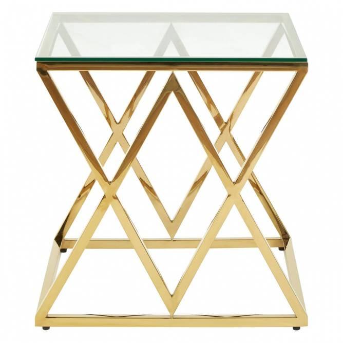 Bilde av DIAMOND GOLD END TABLE