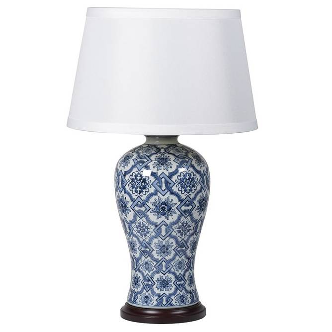 Bilde av CHINA JAR CERAMIC LAMP BLUE