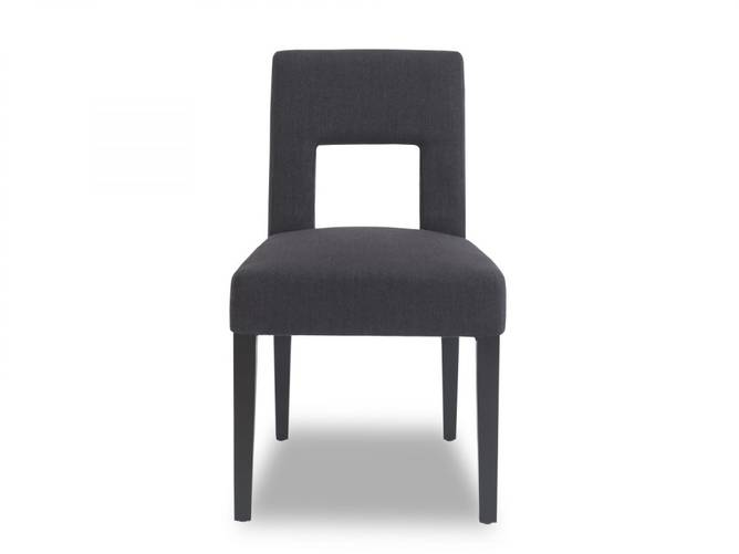 Bilde av VENICE DINING CHAIR IRON BLACK LINEN