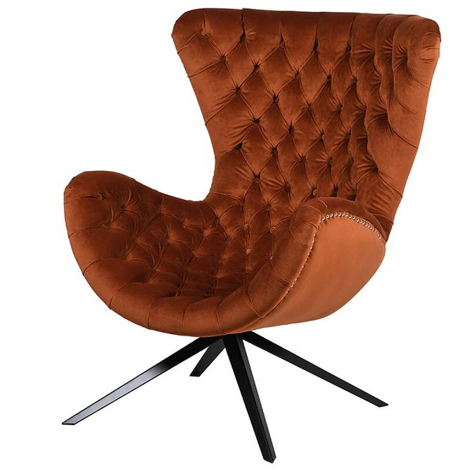 Bilde av BUTTONED CHAIR BURNT ORANGE