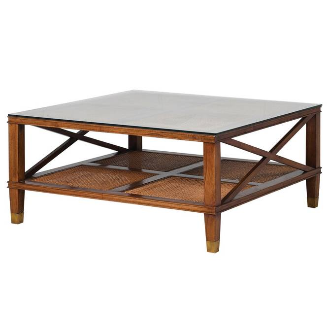 Bilde av WELLINGTON COFFEE TABLE W GLASS TOP