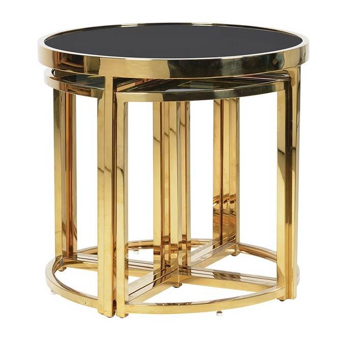 Bilde av NEST OF TABLE 5PC GOLD AND BLACK