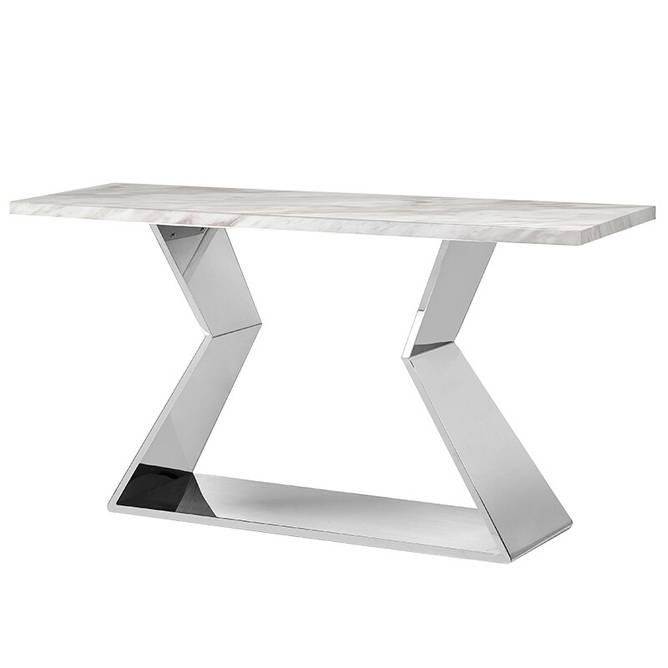 Bilde av WHITE MARBLE CONSOLE TABLE
