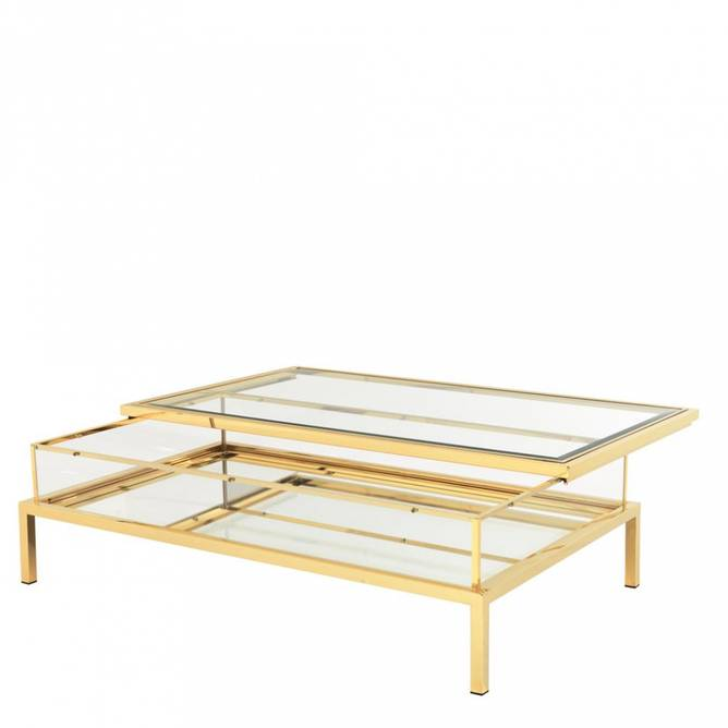 Bilde av EICHHOLTZ COFFEE TABLE HARVEY GOLD 140*85