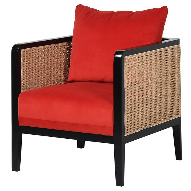 Bilde av BURNT ORANGE RATTAN CHAIR