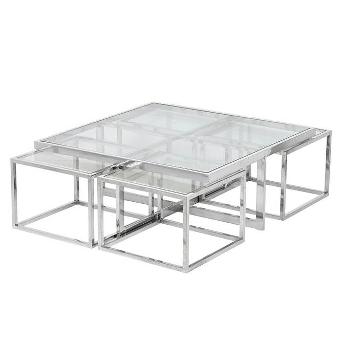 Bilde av GLASS COFFEE TABLE SET OF 5