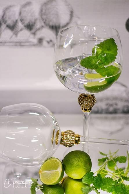 Bilde av GIN GLASS GOLD DIAMOND s/4