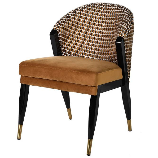 Bilde av GEOMETRIC GOLD DINING CHAIR