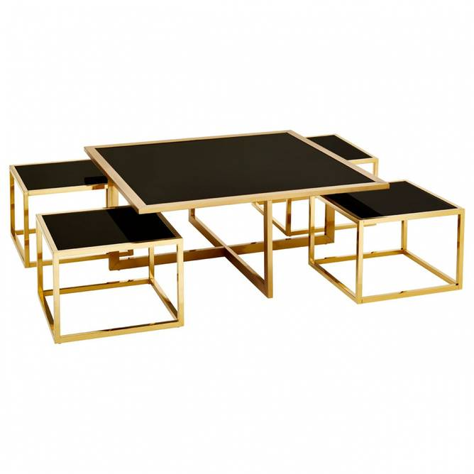 Bilde av 5 PCS COFFEE TABLE GOLD