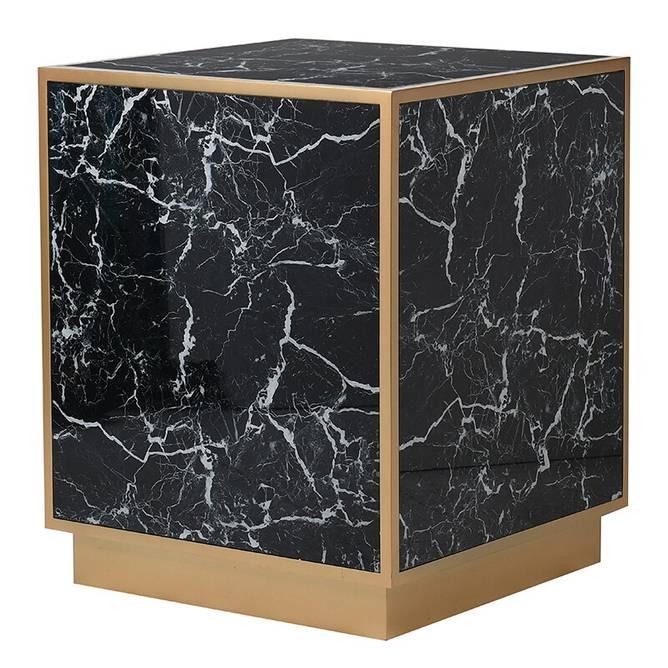 Bilde av SIDE TABLE MARBLE PRINTED GLASS