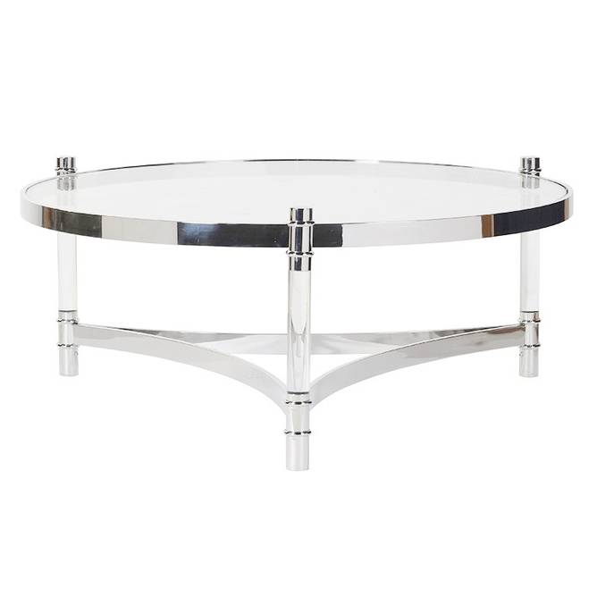 Bilde av ACRYLIC STEEL COFFEE TABLE