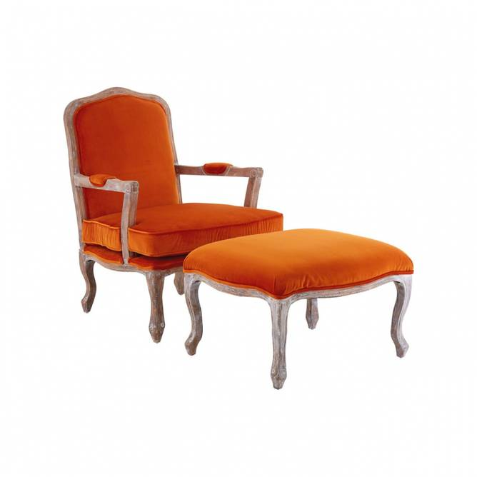 Bilde av GIOVANNA CHAIR + OTTOMAN ORANGE