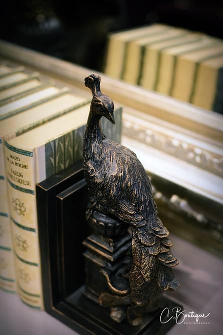 Bilde av STANDING PEACOCK BOOK END SET2