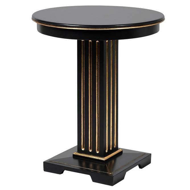 Bilde av BLACK/GOLD SIDE TABLE