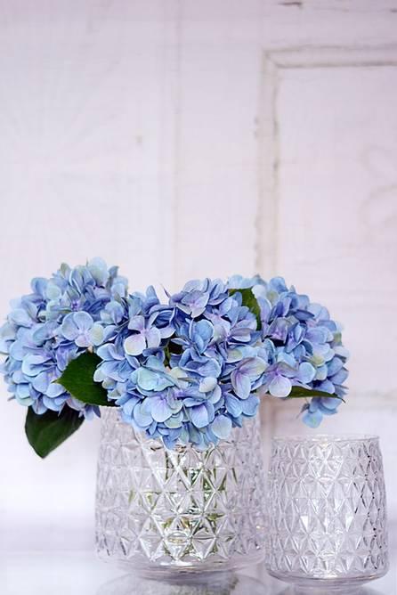 Bilde av BLUE HYDROGEA H70CM