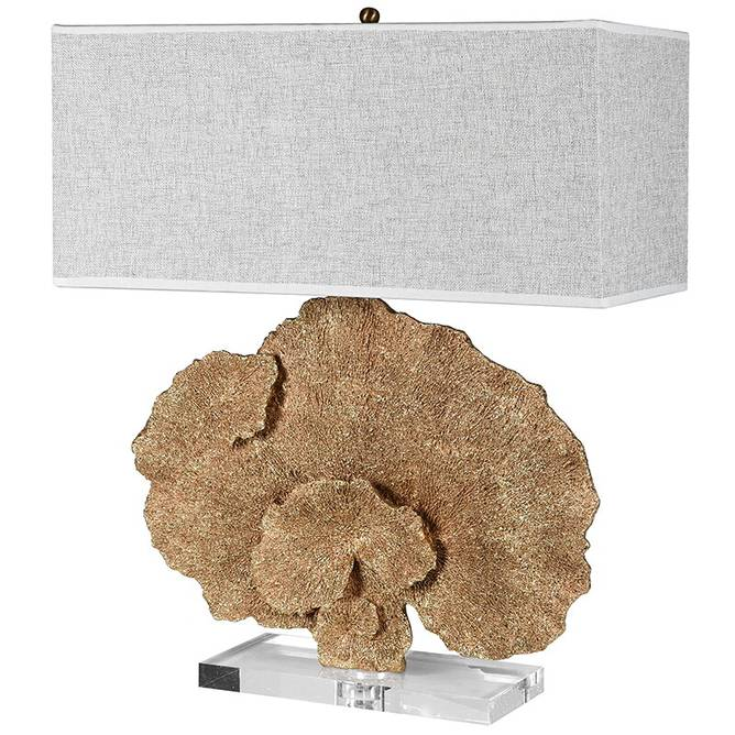 Bilde av GOLD FAUX CORAL TABLE LAMP